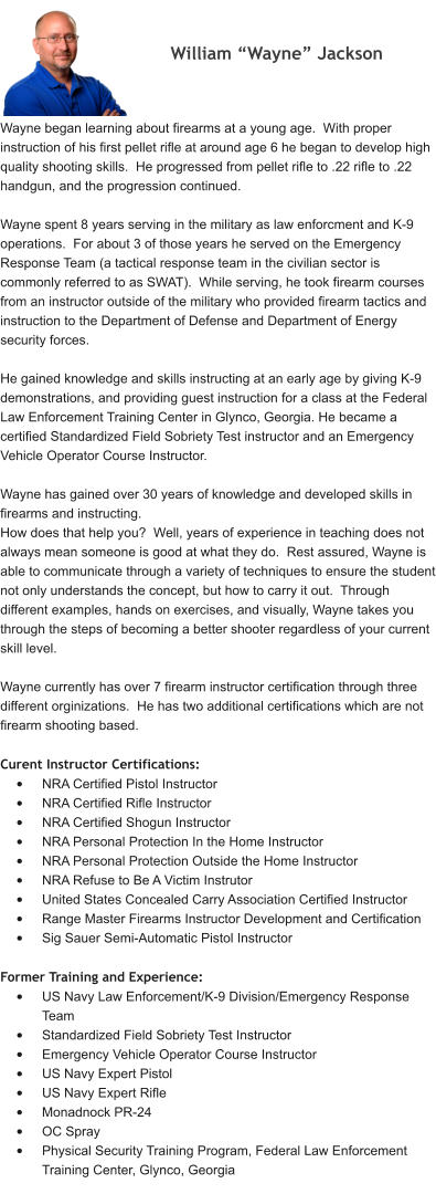 About Us Handgun Basics Firearm Training Certified Firearm
